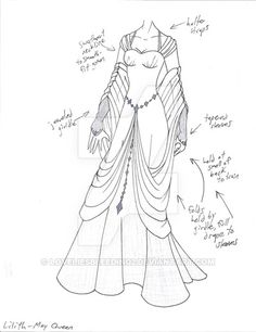 PLEASE NOTE: I do not allow any use of my designs. for my ancient Egypt story (which still hasn't been worked on much yet. just because I was having some weird Egypt inspiration. Dress Drawing, Drawing Clothes, Outfit Drawings, Dress Sketches, Fashion Sketches, Anime Outfits, Cool Outfits, Cosplay, Character Inspiration