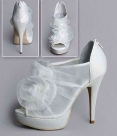 Vera Wang White Label White By Vera Wang Organza Bridal Shoes Wedding Shoes $80