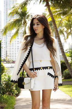 FashionCoolture - 14.06.2016 look du jour Skazi black and white Miami (6)
