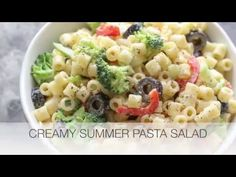 Barefeet In The Kitchen: Creamy Summer Pasta Salad