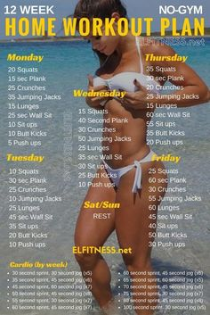 GET FIT AT HOME IN JUST 12 WEEKS: 30 minutes per day, 5 days a week is all it takes! No equipment needed!