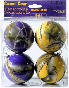 Next Camo Christmas Oranaments - Purple
