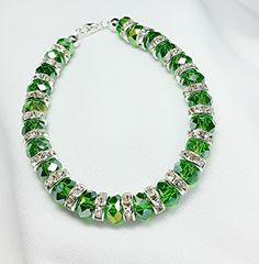 Green Glass And Rhinestone Bracelet By Keith Snyder Jewelry Designers - Community - Google+ Translucent Glass, Jewelry Box, Glass Beads, Designers, Jewelry Design, Beaded Bracelets, Community, Google, Green