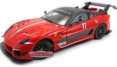 2012.- FERRARI 599XX EVO #11 Rojo (Serie Elite BCJ91).