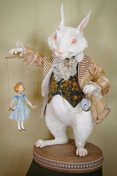 Is he late? Alice style rabbit by Scott Smith. Beautiful art piece to display anytime, but especially fun for Spring.