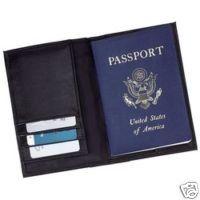 BESTSELLER! Embassy Black Leather Passport Holder... $4.25