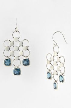 Free shipping and returns on John Hardy 'Batu Dot' London Blue Topaz Chandelier Earrings at Nordstrom.com. Semiprecious stations dangle from sterling-silver latticework to give a bohemian feel to handcrafted chandeliers.