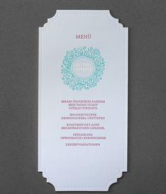 Letterpress Menükarten, Druck mit 2 Farben auf 600g Baumwollpapier. Veredelung mit Stanze und Heißfolienprägung in Gold. Sashimi, Letterpress, Hot, Books, Paper, Business Cards, Die Cutting, Colors, Libros
