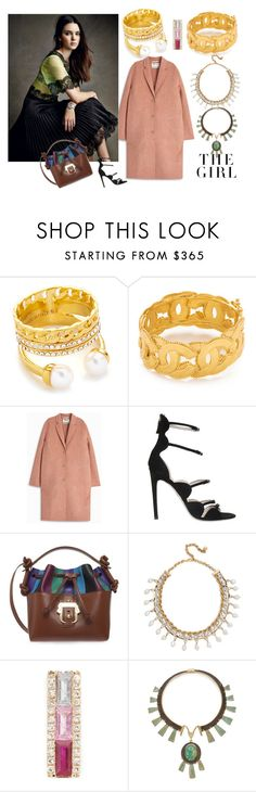 """The Girl"" by lalu-papa ❤ liked on Polyvore featuring Vita Fede, Acne Studios, Giambattista Valli, Paula Cademartori, Shourouk, EF Collection, Kershaw and Tory Burch"