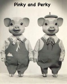 Pinky and Perky, wooden string puppets from British fifties TV