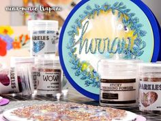 (42) Studio Monday with Nina Marie: Wow! Glitter Die Cuts with Heat Embossing - YouTube