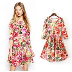 Women Cotton Countryside Style Casual Dress Evening Party Spring Summer Dress #Dunland #StretchBodycon #Casual