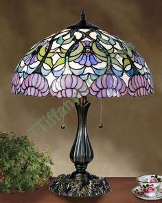 Tiffany lamp..reminds me of a lamp my Grandma had.  So pretty<3