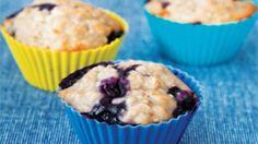 Banan-blåbær-muffins | Ude og Hjemme