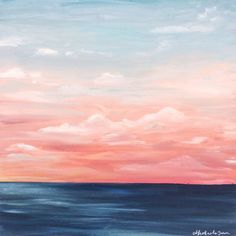 One of a Kind Original Oil Painting of a Red Sunset Over the Sea (130 CAD) ❤ liked on Polyvore featuring home, home decor, wall art, ocean paintings, red home accessories, red painting, sea paintings and sunset oil painting