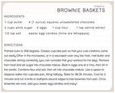 17 Inch Heart: ONE YUMMY THING: EASTER BROWNIES