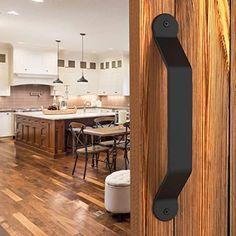 Gate Handles, Barn Door Handles, Door Pull Handles, Sliding Door Hardware, Sliding Panels, Sliding Doors, Barn Door Closet, Black Barn, Diy Home Repair