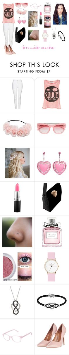 """Andrea Anderson-Wide Awake-Glee OC"" by silverbellatrix ❤ liked on Polyvore featuring Topshop, New Look, Erdem, Tarina Tarantino, MAC Cosmetics, Christian Dior, Wild Rose, Laruze, Jewel Exclusive and Kam Dhillon"