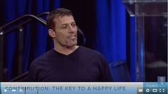 Once again, from the master himself, everyone knows and loves Tony Robbins.  I love writing about his videos and more over watching them.  I learn so much every time I write a blog based off his videos.  Today, Tony teaches us how to have a life of riches and fulfillment.