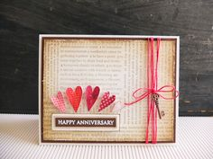 Happy anniversarycard / Handmade Card for Husband