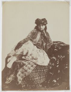 Reclining Woman with a Turban Artist: Antoin Sevruguin Medium: Albumen silver photograph Dates: Late 19th century Dynasty: Qajar