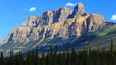 Castle Mountain is located within Banff National Park in the Canadian Rockies