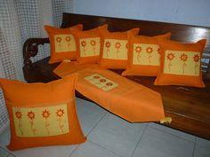 Set Sarung Bantal Kursi Tenun Kode BK.002
