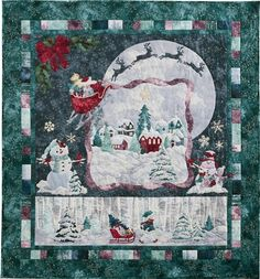 Magic in the Moonlight McKenna Ryan Pine Needles 6 Christmas Quilt Pattern Set Sampler Quilts, Star Quilts, Quilt Blocks, Panel Quilts, Mini Quilts, Halloween Quilts, Magic In The Moonlight, Christmas Quilt Patterns, Christmas Quilting