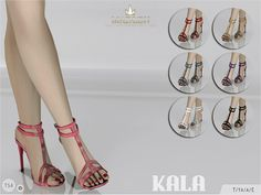 The Sims Resource: Madlen Kala Sandals by MJ95 • Sims 4 Downloads