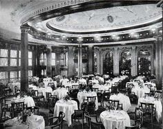 The Ritz-Carlton of the Leviathan. The ship's architect was the Ecole de Beaux-Arts trained Charles Mewes. His interiors are unmatched in traditional ship-building design.