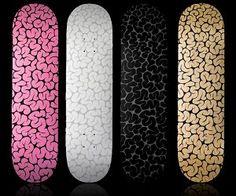 Brain Pattern Skateboard Deck by Emilio Garcia