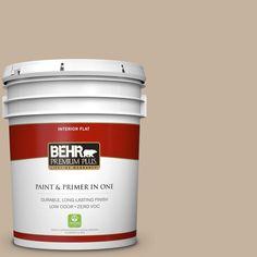 BEHR Premium Plus 5-gal. #ecc-20-1 Canyon View Zero VOC Flat Interior Paint