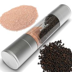 Check out this crazy product! It's a 2-in-1 Salt and Pepper Grinder! Now you can have your salt AND pepper all in one very cool product. Great quality, too! Check it out on Amazon by clicking the picture.