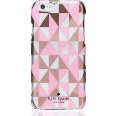 Kate Spade Geometric Iphone 6 Case ($40) ❤ liked on Polyvore featuring accessories, tech accessories, phone cases, phones, electronics, iphone case, iphone cover case, kate spade iphone case, iphone cell phone cases and apple iphone cases