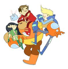 Promo art for Bravest Warriors, the upcoming series from Pendleton Ward, the creator of Adventure Time Cartoon Network Adventure Time, Adventure Time Anime, Animation Creator, Pendleton Ward, Bravest Warriors, Cartoon Shows, Cool Cartoons, Wallpaper, How To Fall Asleep