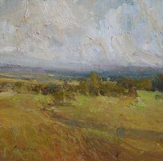 "Towards Sheridan by Simon Addyman Oil ~ 12"" x 12"""