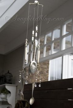 How to make a Wind Chime with Silverware  http://www.songbirdblog.com/2012/04/how-to-make-a-wind-chime-with-silverware/
