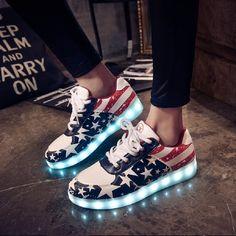 7 Colors luminous shoes unisex led glow shoe men & women fashion USB rechargeable light led shoes for adults led shoes(China (Mainland))
