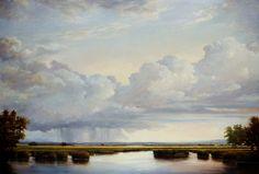 Victoria Adams Oil Paintings are so serene Deep Blue, Serenity, Victoria, Oil Paintings, Day, Landscapes, Paisajes, Oil On Canvas, Scenery