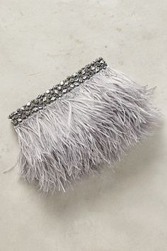 Feathered Fete Clutch #anthropologie