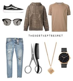 """• MENS AUTUMN LUXE 3"" by thebestkeptsecret on Polyvore featuring Estnation, Tweezerman, River Island, The Horse, A.P.C., Yeezy by Kanye West, Vans, Gucci, men's fashion and menswear"