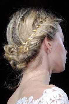 pretty gold-woven braid