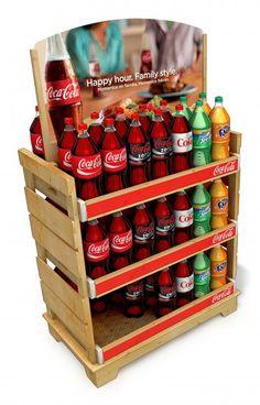 Coca-Cola Display I made out of wood I www.sharndisplys.com
