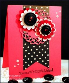 Pink and Black make this card pop.