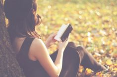 photography with book reading | book, fall, girl, photography, reading, sitting - inspiring picture on ...