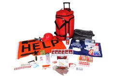 This Kit Is Packed Securely in Our Red Duffle Bag with Wheels and includes the following: This kit contains the following: Food and Water: The food and water in this kit will comfortably provide you w