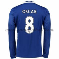 Chelsea Fotballdrakter 2016-17 Oscar 8 Hjemmedrakt Langermet