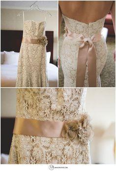 Vintage, lace, wedding dress. Jim Hjelm Gown