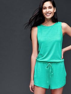 Softspun knit scoop-back romper Product Image