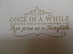 Snow White Inspired Welcome Packet with Embossing!